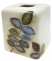 Контейнер Croscill Mosaic Leaves 6A0-006O0-0086-990 настольный цвет белый