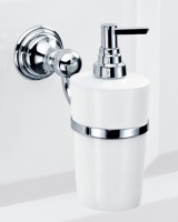 Дозатор для мыла Decor Walther Classic 0511500 CL WSP подвесной хром / фарфор