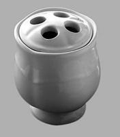 Стакан Devon&Devon Emily MIL514E настольный для зубных щеток керамика белая