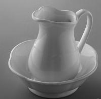 Кувшин Devon&Devon Emily MIL525E настольный с миской керамика белая