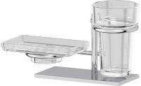 Держатель мыльницы/ стакана Ellux Domino DOM 004 левый хром