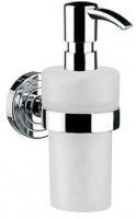Дозатор для мыла Emco Polo 0721 001 02 настенный хром /пластик белый