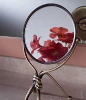 Зеркало косметическое Etruska Nodo 1865/75 настольное никель