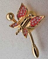 Крючок Etruska Icaro 4805/55/PERLA одинарный золото/белый