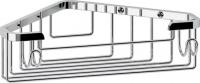Полка FBS Ryna  RYN 002 решетка угловая глубокая хром