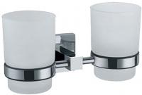 Стакан Fixsen Metra FX-11107 подвесной двойной хром/стекло матовое