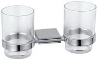 Стакан Fixsen Noble FX-6107 подвесной двойной хром/стекло