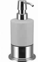 Дозатор для мыла Fixsen Best FX-712 настольный хром/керамика белая