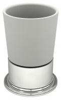 Стакан Fixsen Best FX-716 настольный хром/керамика белая