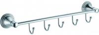 Вешалка с крючками Fixsen Best FX-71605-5 на планке (5 шт.) хром