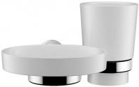 Стакан и мыльница Fixsen Best FX-71606-08 подвесные хром/керамика белая