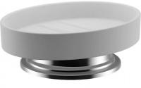 Мыльница Fixsen Best FX-718 настольная цвет хром/керамика белая
