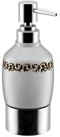 Дозатор для мыла Fixsen Bogema FX-782 настольный хром/керамика белая