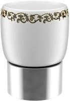 Стакан Fixsen Bogema FX-786 настольный хром/керамика белая