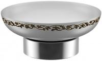 Мыльница Fixsen Bogema FX-788 настольная цвет хром/керамика белая