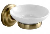 Мыльница Fixsen Retro FX-83808 подвесная бронза/керамика белая