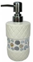 Дозатор для мыла Fixsen Mazy FX-A235-D2-1 настольный цвет белый с декором