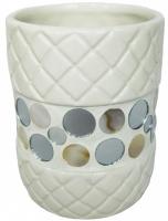 Стакан Fixsen Mazy FX-A235-D2-3 настольный цвет белый с декором