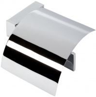 Бумагодержатель Geesa Modern Art 3508-02 с крышкой хром