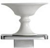 Мыльница Globo Relais RE0391X на металлической полке хром / керамика белая