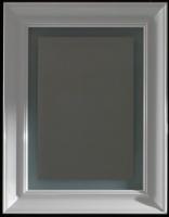 Зеркало Globo Relais  SP070 700 х h900 мм  с подсветкой рама белая