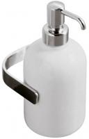 Дозатор для мыла Globo Universali UN040 настенный хром / керамика белая
