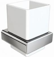 Стакан Linisi Opera 81884 подвесной хром / керамика белая