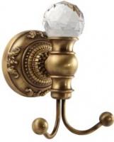 Крючок Migliore Cristalia ML.CRS-60.209.DO двойной золото/Swarovski