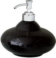 Дозатор Nicol Samira 2111925 настольный для жидкого мыла керамика черная / хром