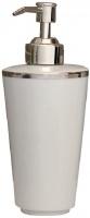Дозатор Nicol Sofia 2141992 настольный для жидкого мыла фарфор белый / ободок платина