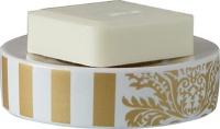 Мыльница Nicol Gloria 2151870 настольная керамика жасмин декор золото