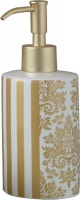 Дозатор Nicol Gloria 2151970 настольный для жидкого мыла керамика жасмин декор золото