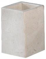 Стакан Nicol Victoria 2312012 настольный натуральный камень travertin