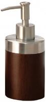 Дозатор Nicol Kenia  2421920 настольный для жидкого мыла дерево орех / нержавеющая сталь