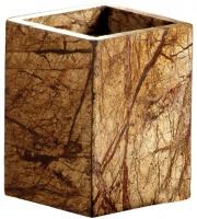 Стакан Nicol Tura 2482012 настольный мрамор Bidasar цвет бежевый /хром