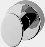 Крючок Niсolazzi Minimale  1481M CR одинарный хром /керамика белая