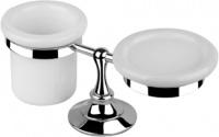 Cтакан и мыльница Performa Per4A-08 25801 CR настольные хром/керамика белая