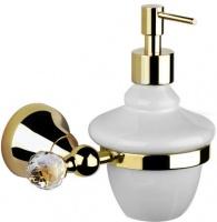 Дозатор жидкого мыла Performa Per15M-24S2 25804 CR SW настенный хром/Swarovski/керамика белая