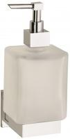 Дозатор жидкого мыла Sanibano Cosmo H2021/11 подвесной хром /стекло матовое