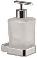 Дозатор жидкого мыла Sanibano Enzo H6300/11 подвесной хром /стекло матовое