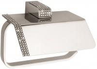 Бумагодержатель Sanibano Diamond H9000/06 с крышкой хром / Swarovski