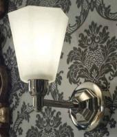 Светильник Sbordoni Deco  DE030CR настенный хром/стекло