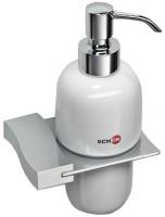 Дозатор жидкого мыла Schein Swing 322D настенный хром /керамика белая