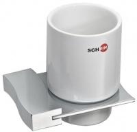 Стакан Schein Swing 323C настенный хром /керамика белая