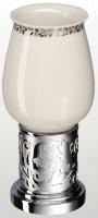 Стакан Schein Carving 7065013 настольный хром /керамика белая