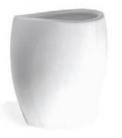 Стакан StilHaus Zefiro 653(BL) настольный керамика белая