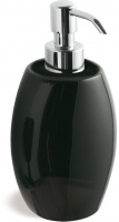 Дозатор для жидкого мыла StilHaus Zefiro 654(08-NE) настольный хром / керамика черная
