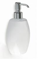 Дозатор для жидкого мыла StilHaus Zefiro 654(08-BL) настольный хром / керамика белая