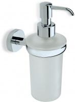Дозатор для жидкого мыла StilHaus Diana DI 30 настенный хром / стекло матовое