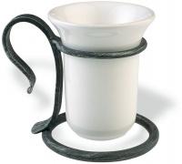 Стакан StilHaus Flora F 10ap настольный керамика белая / античная черная тоскана